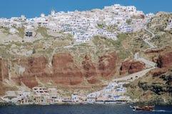Назначение и пейзаж перемещения острова Santorini Стоковые Фотографии RF