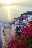 Назначение и пейзаж перемещения острова Santorini Стоковые Изображения
