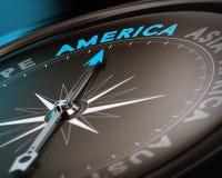 Назначение перемещения - Америка Стоковые Изображения RF