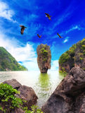 Назначение перемещения Таиланда острова Жамес Бонд Стоковое Изображение RF