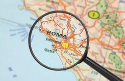 Назначение - Roma (с увеличивать - стекло) Стоковое Изображение RF