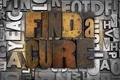 Найдите лечение Стоковое Изображение RF
