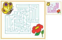 Найдите путь для butterflys к цветкам Стоковые Фото