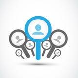 Найдите работа, принципиальная схема поиска работы Стоковые Фотографии RF
