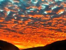 Накалять захода солнца Стоковая Фотография RF