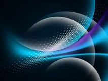Накаляя абстрактная волна на темном, сияющем движении, волшебном свете космоса Предпосылка конспекта Techno иллюстрация вектора