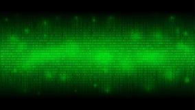 Накаляя бинарный код, предпосылка матрицы зеленая абстрактная, облако больших данных, поток информации иллюстрация штока