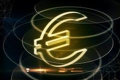 Накаляя желтый знак евро бесплатная иллюстрация