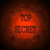 Накаляя красные расклассифицированные сверхсекретные символ или штемпель Стоковые Фото