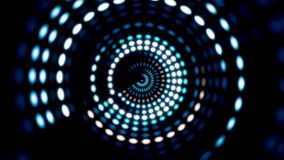 Накаляя круговой элемент 3D UI Загоренные геометрические формы круга и сферы преобразовывая в безшовной петле кругово бесплатная иллюстрация
