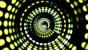 Накаляя круговой элемент 3D UI Загоренные геометрические формы круга и сферы преобразовывая в безшовной петле кругово иллюстрация штока