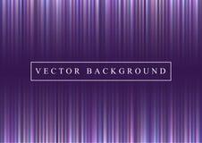 Накаляя линии, световые лучи на ультрафиолетов фоне Предпосылка футуристического конспекта космоса фиолетовая с неоновыми нашивка Стоковые Изображения