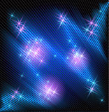 Накаляя лучи и звезды Стоковая Фотография