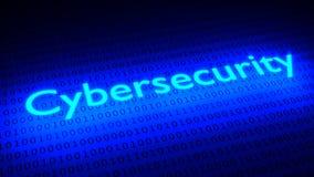 Накаляя потоки binary черноты освещения cybersecurity слова