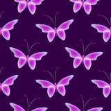 Накаляя предпосылка с волшебными бабочками Стоковая Фотография RF