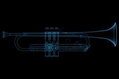 накаляя прозрачный trumpet Стоковое Изображение
