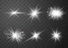 Накаляя световой эффект иллюстрация вектора