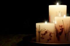 Накаляя свечки осени Стоковая Фотография