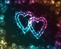 накаляя сердца Стоковые Фото