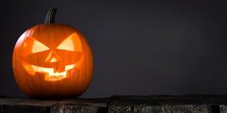 накаляя тыква halloween Стоковая Фотография RF