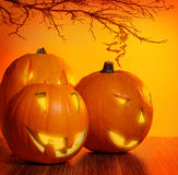 накаляя тыква halloween Стоковые Фото
