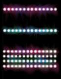накаляя цепь световых маяков комплект иллюстрация вектора