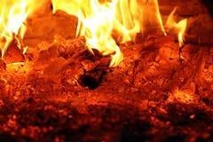 Накаляя embers Стоковое Изображение