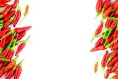 Накаленные докрасна перцы chili стоковое фото