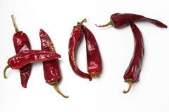 Накаленный докрасна перец chili Стоковые Изображения