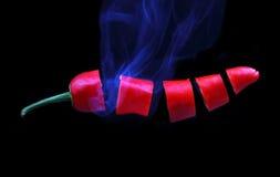 Накаленный докрасна chili Стоковые Изображения RF