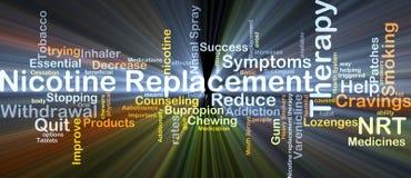 Накалять концепции предпосылки терапией замены никотина NRT Стоковое Изображение