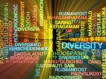 Накалять концепции предпосылки wordcloud разнообразия multilanguage Стоковое Фото