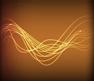 Накаляя абстрактная предпосылка золота Стоковые Изображения RF