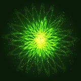 Накаляя абстрактные круги с влиянием разбрасывать частицы иллюстрация вектора