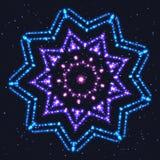Накаляя голубая звезда для праздничного оформления иллюстрация вектора