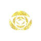 Накаляя золотая роза на предпосылке Sparkles золота подняли иллюстрация вектора