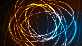 Накаляя неоновые многоточия, яркая анимация видео трассировок иллюстрация вектора