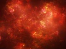 Накаляя пламенистая красная плазма в космосе Стоковая Фотография