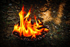 Накаляя пламя Стоковые Фотографии RF
