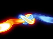 Накаляя светлая трубка Стоковая Фотография