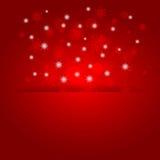 Накаляя сияющая предпосылка рождества с снежинками Стоковая Фотография RF