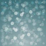 Накаляя сияющая предпосылка рождества с снежинками Стоковые Фотографии RF