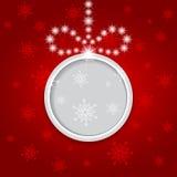 Накаляя сияющая предпосылка рождества с шариком. Стоковое Изображение