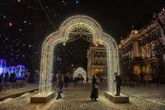 Накаляя строб - украшения рождества в Зимнем дворце Стоковые Фото