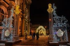 Накаляя строб - украшения рождества в Зимнем дворце Стоковое фото RF