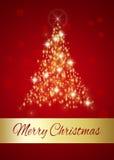 Накаляя с Рождеством Христовым рождественская елка Стоковое Изображение RF
