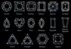 16 накаляя форм диамантов Стоковая Фотография