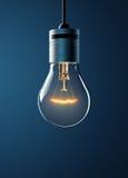 Накаляя электрическая лампочка смертной казни через повешение Стоковые Фото