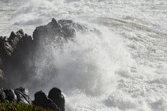Накидка моря будучи ударянным волной Стоковая Фотография