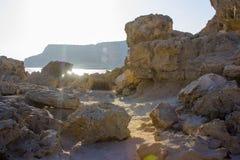 Накидка Greco Кипр на заходе солнца Стоковое Фото